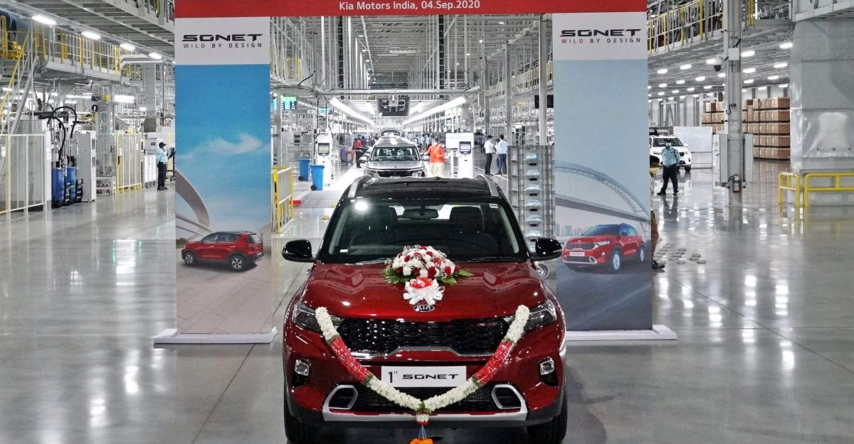 Kia Motors rolls out first Sonet compact SUV from Anantapur factory