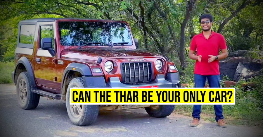 2020 Mahindra Thar diesel-automatic driven: Can it be your daily car? [Video]