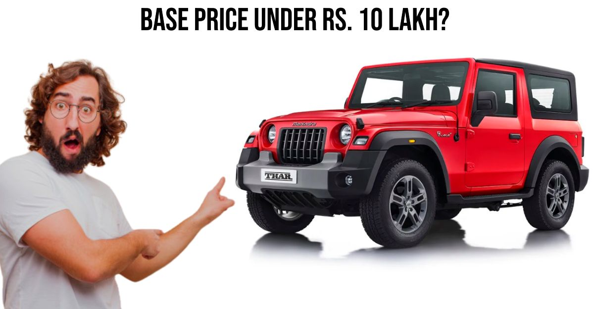 2020 Mahindra Thar: Prices leaked ahead of official launch?