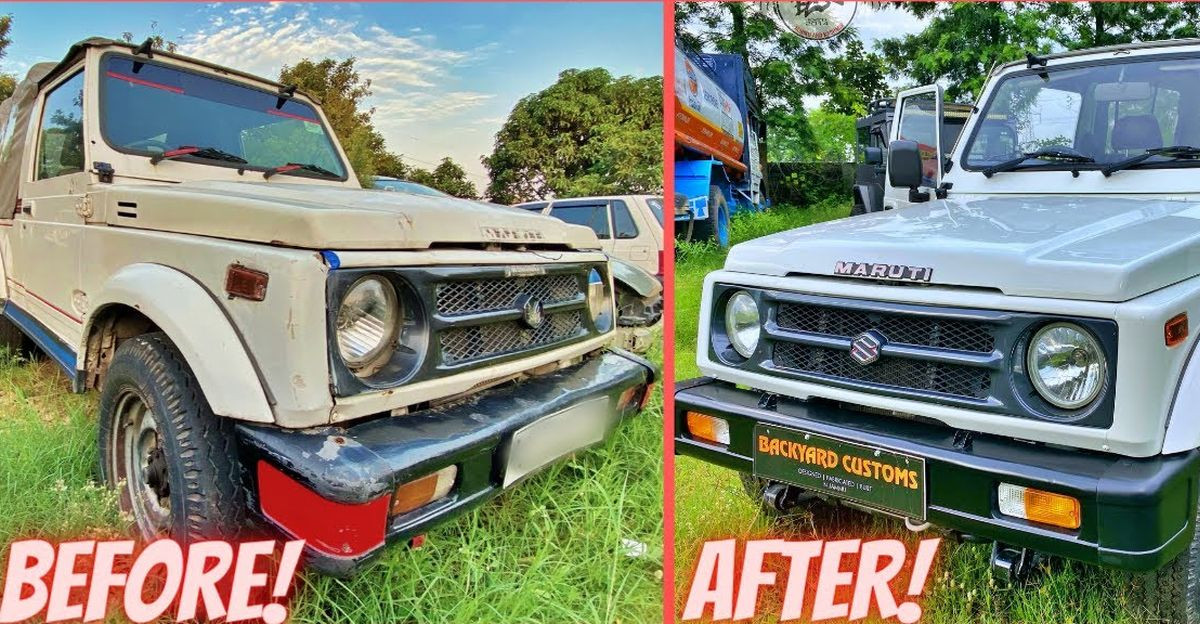 Watch this Police Maruti Gypsy get beautifully restored on video
