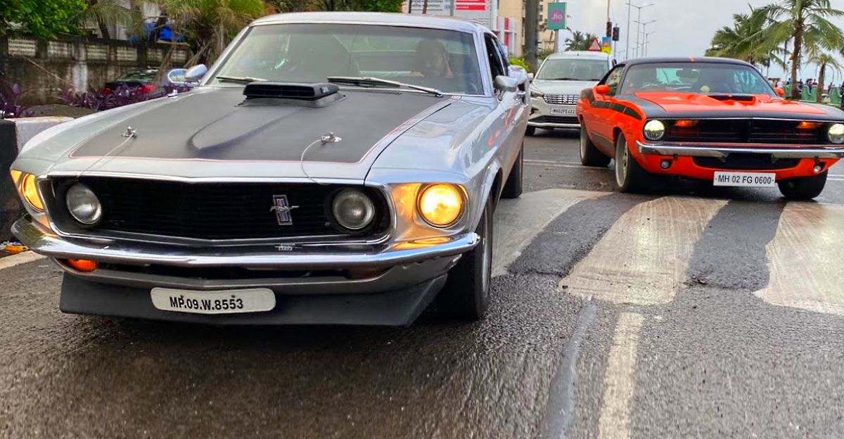 Rare Muscle cars on Mumbai roads: Plymouth Barracuda, Ford Mustang & Chevrolet Impala