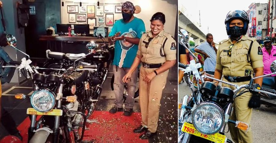 First cop to buy Royal Enfield Interceptor 650 explains why she chose the motorcycle [Video]