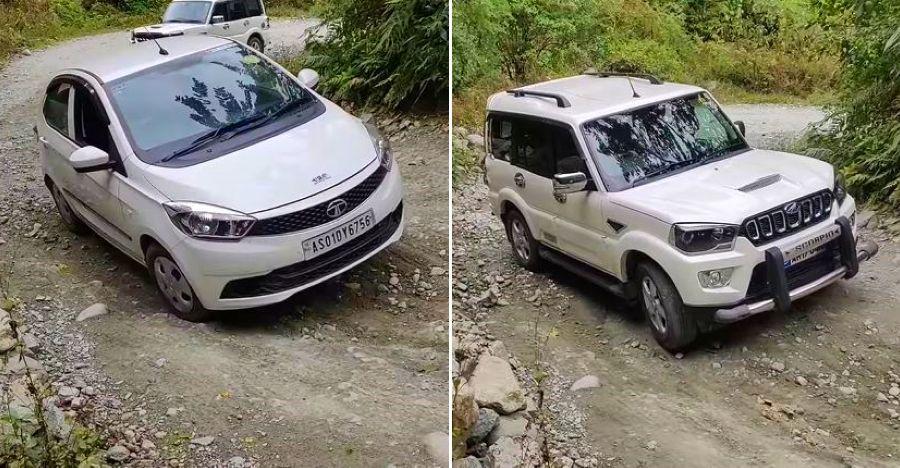 Mahindra Scorpio gets STUCK while Tata Tiago sails through: We explain! [Video]