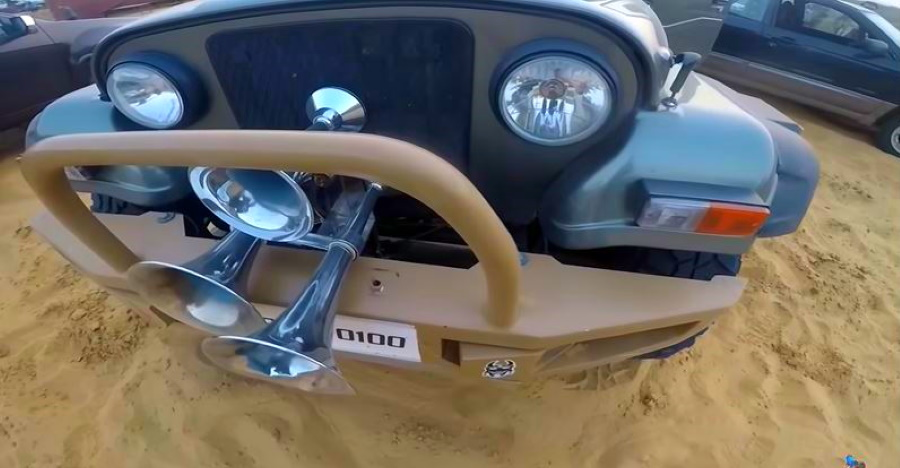 Meet the Mahindra Thar fitted with a train horn costing Rs. 1 lakh [Video]