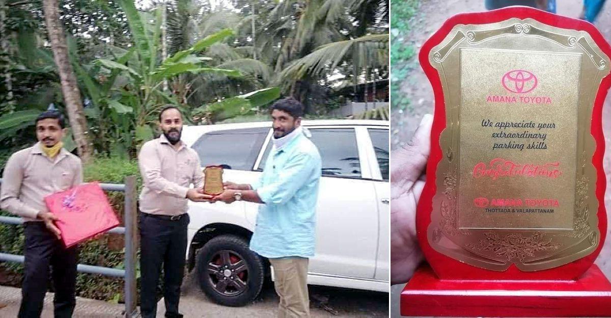 Toyota dealership felicitates 'India's parking legend'