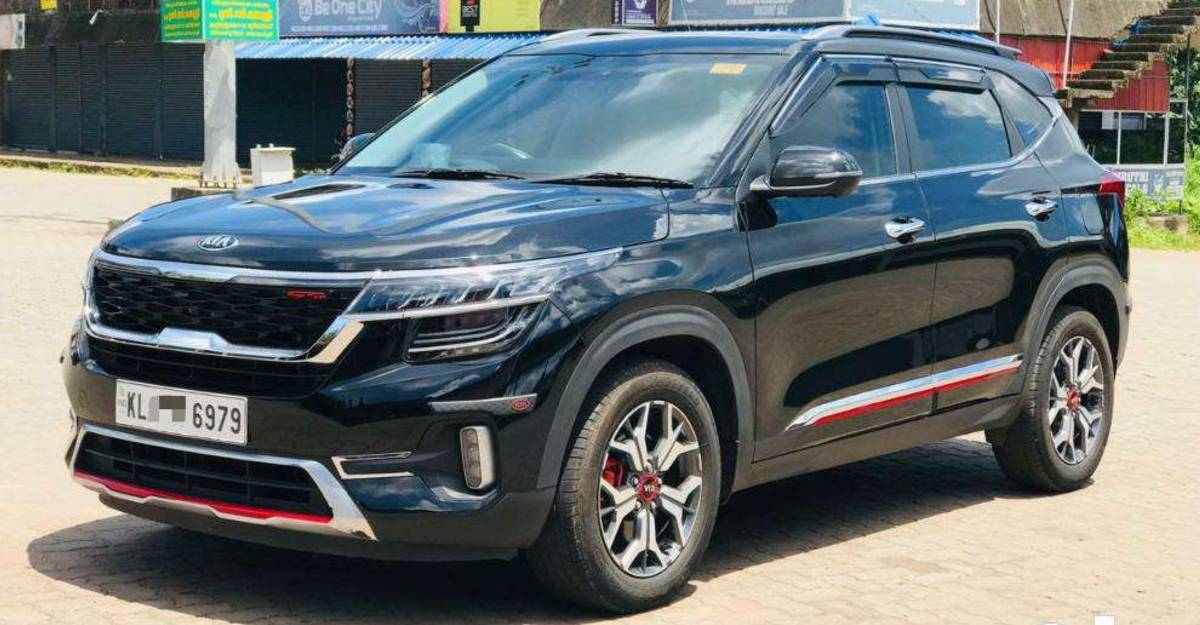 Barely-used 2020 Kia Seltos Diesel compact SUVs for sale