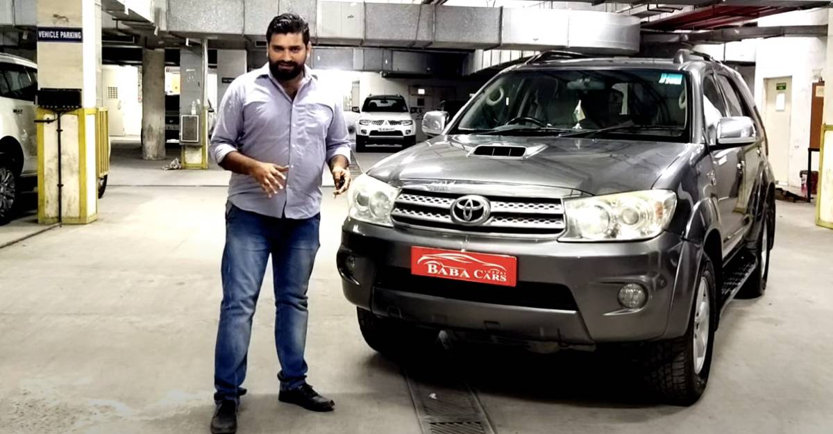 Well maintained, used Toyota Fortuner selling for Rs. 7.95 lakh [Video]