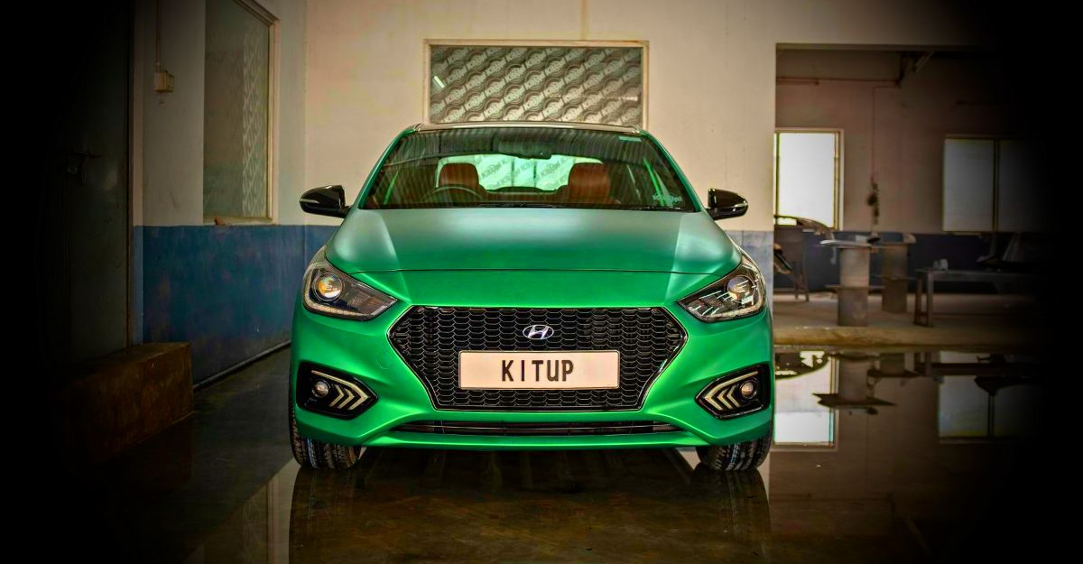 Hyundai Verna with Green Satin paint is an eye catcher: In images