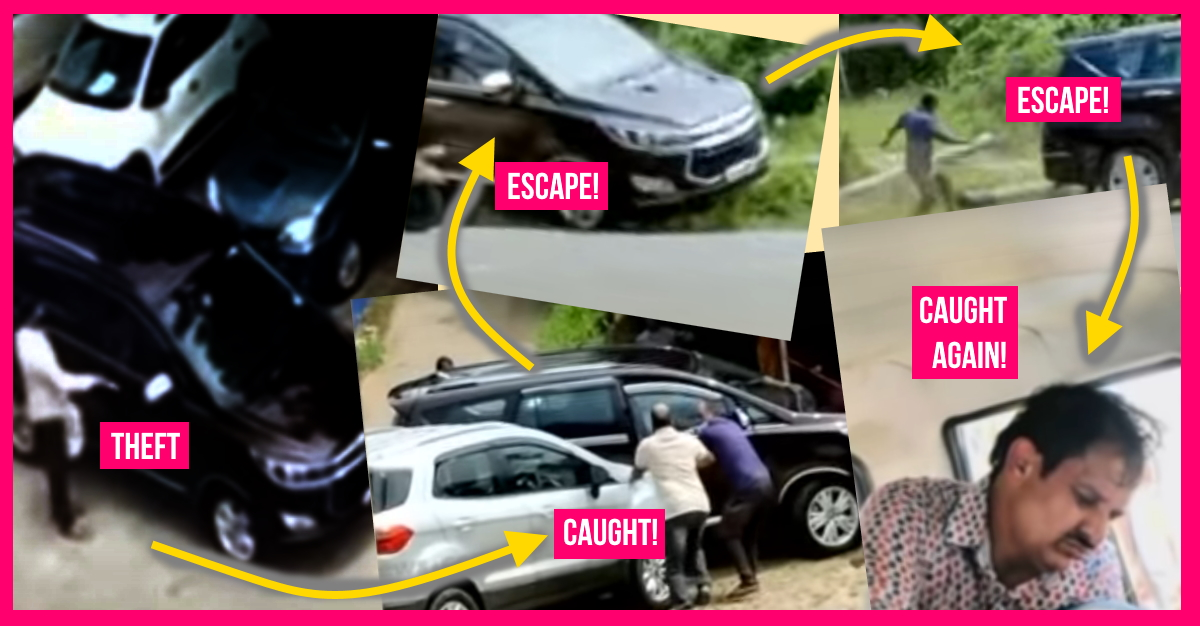 Man steals Toyota Innova Crysta from service centre: Gets chased by owner, escapes but finally caught by cops [Video]