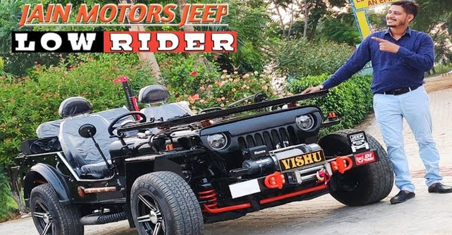 Resto-modded lowrider Jeep for sale at Maruti Swift price