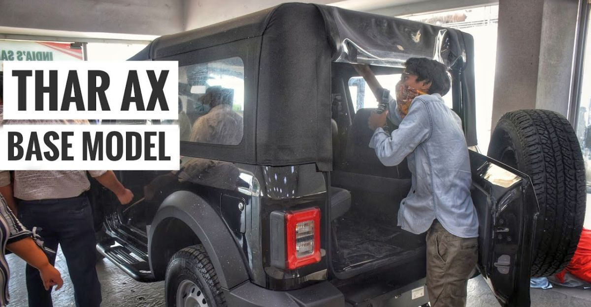 Most affordable 2020 Mahindra Thar: Base AX trim in a walkaround video