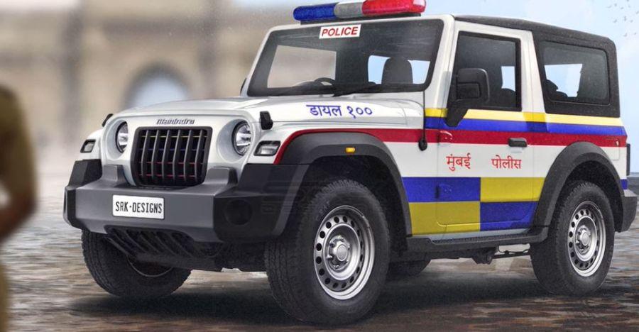 All-new Mahindra Thar imagined as a Mumbai police car [Video]