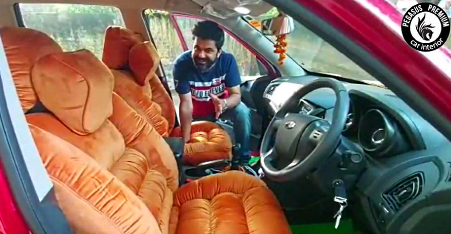 This Mahindra XUV500 has sofas for seats [Video]