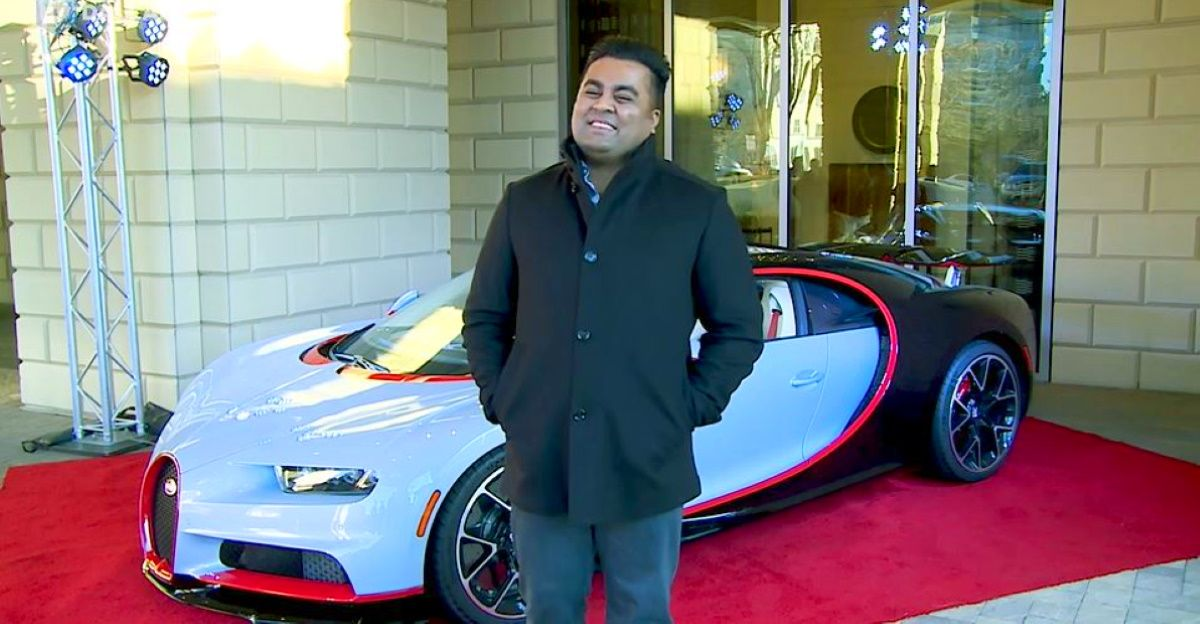 Meet Mayur Shree The Only Indian To Own A Bugatti Chiron The Cars He Owns Video