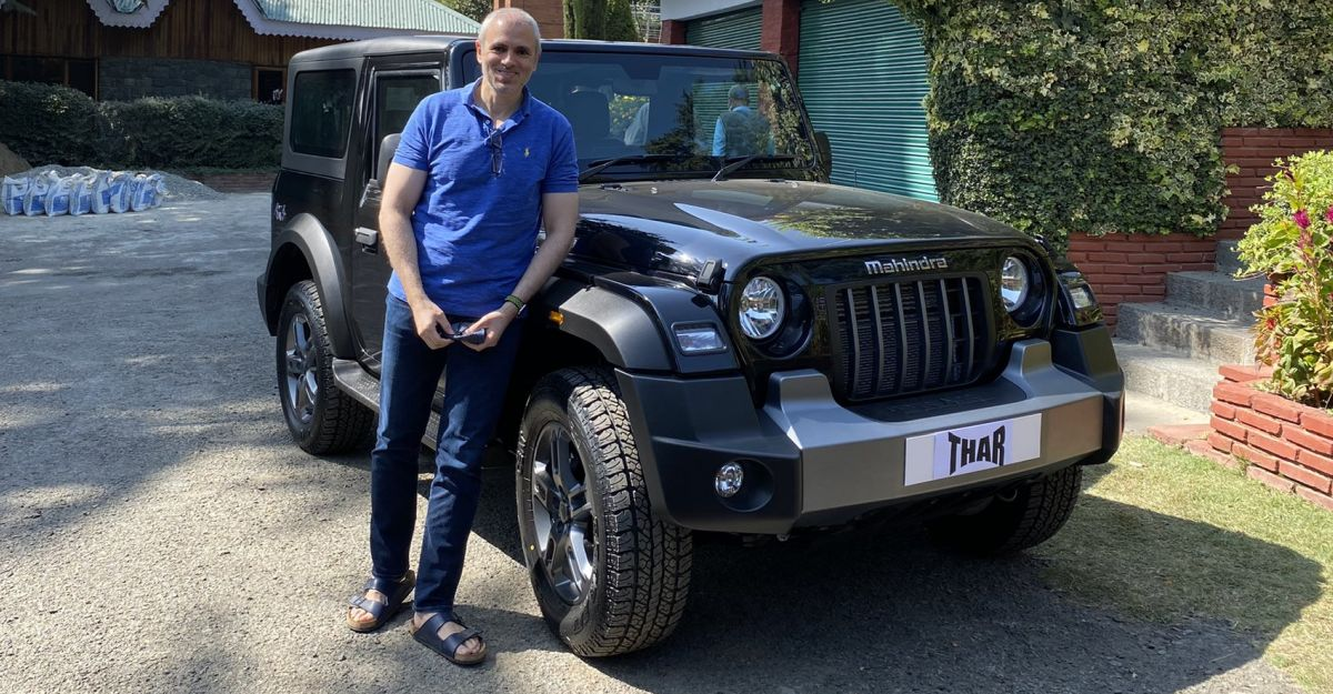 Former J&K Chief Minister Omar Abdullah impressed after driving the all new Mahindra Thar