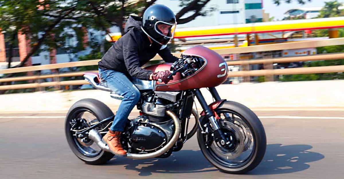 Royal Enfield Continental GT 650-based cafe racer from Krom Works looks elegant