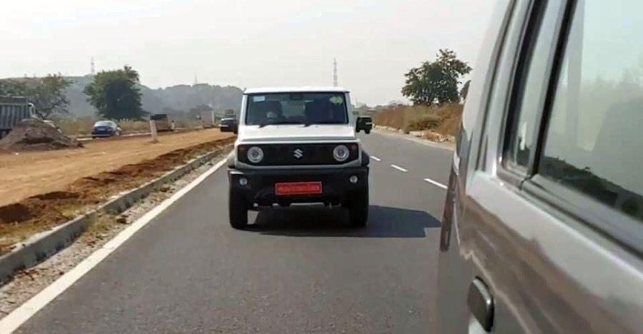 3 door Suzuki Jimny SPIED testing on Indian roads