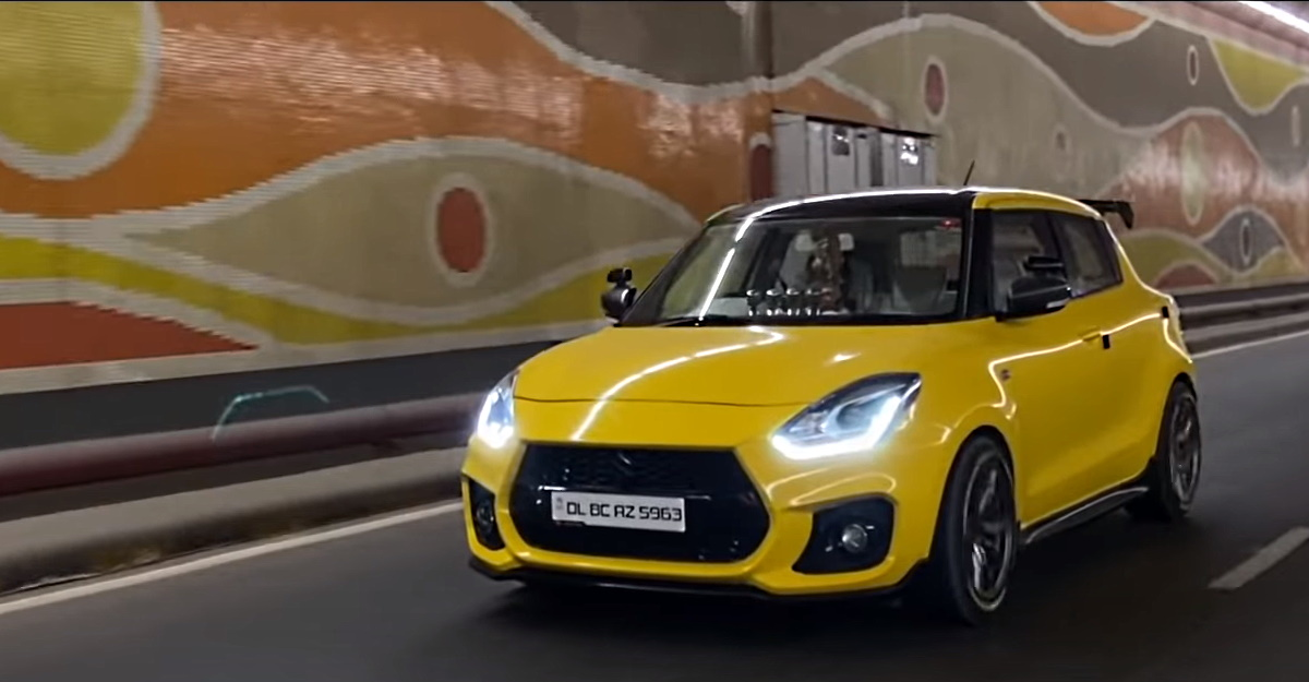 Indian Maruti Swift modified with imported Swift Sport kit!