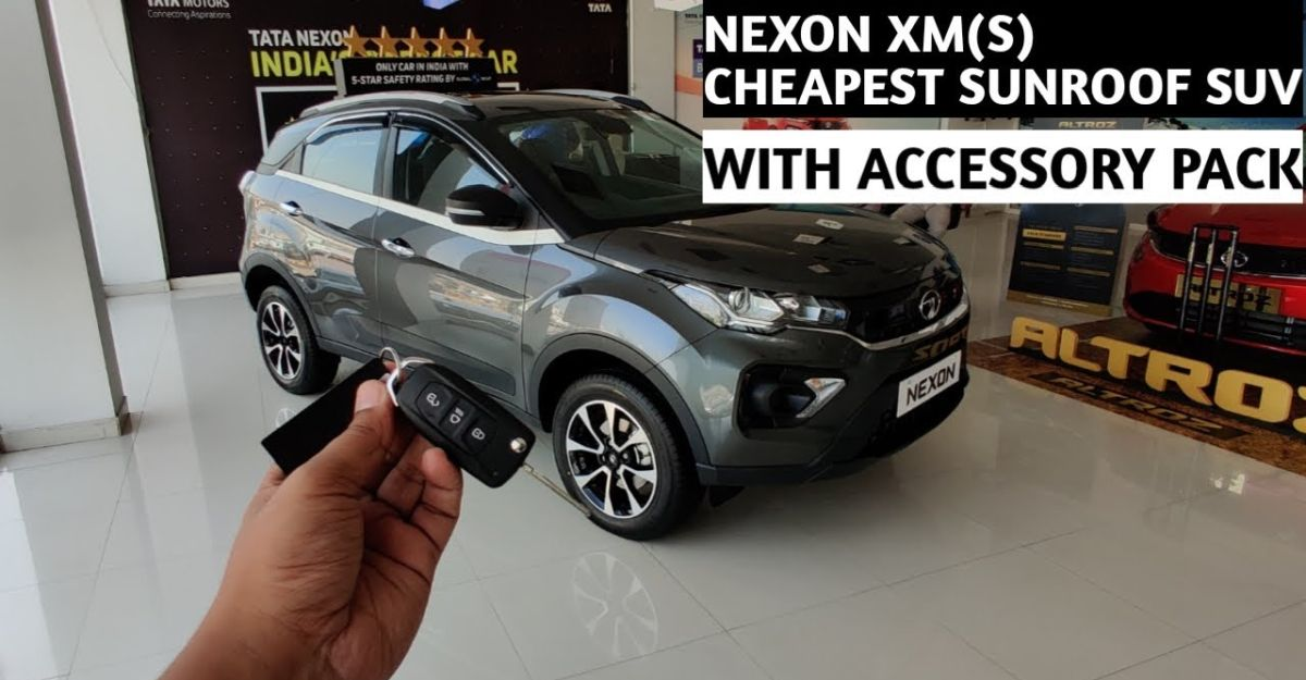 Tata Nexon XMS: India's most affordable sunroof equipped compact SUV on video