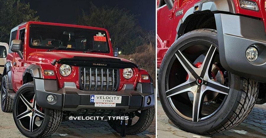 New Mahindra Thars with 22 inch alloy wheels look SICK