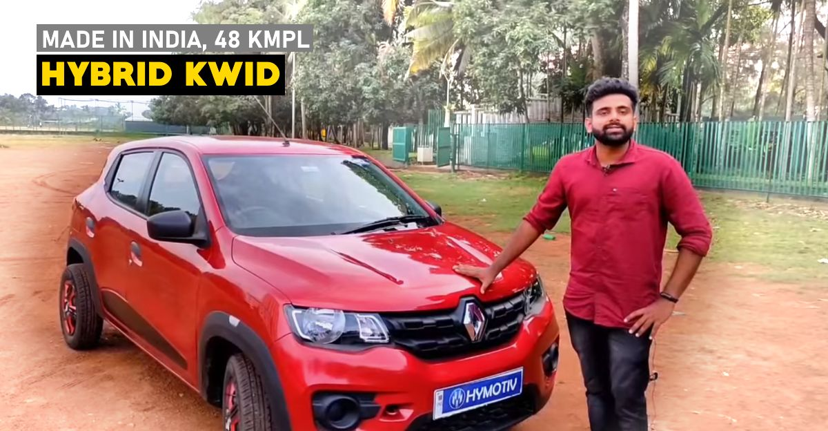 Indian startup builds Renault Kwid hybrid that offers high fuel economy