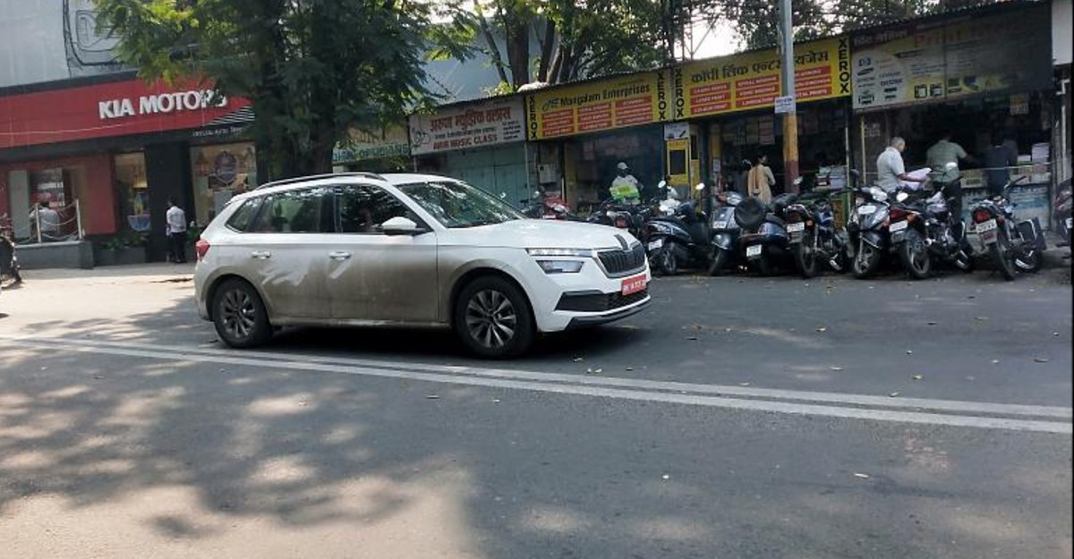 Skoda Kamiq compact SUV spied testing before official launch in India