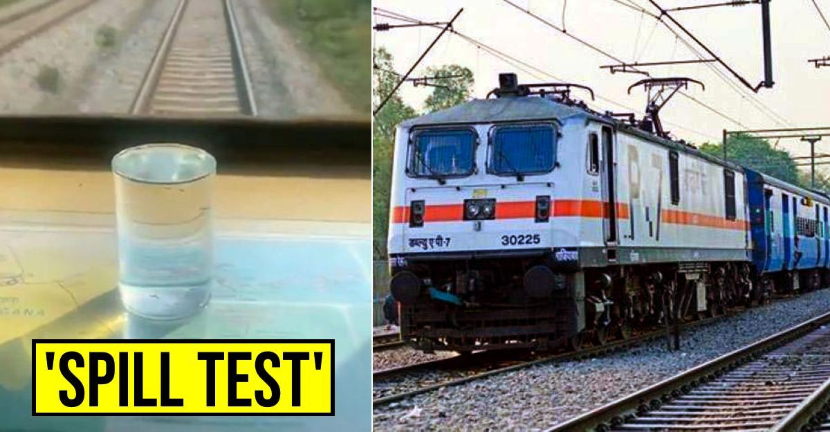 Indian Railways shows off high speed train's smoothness with 'water spill test' [Video]