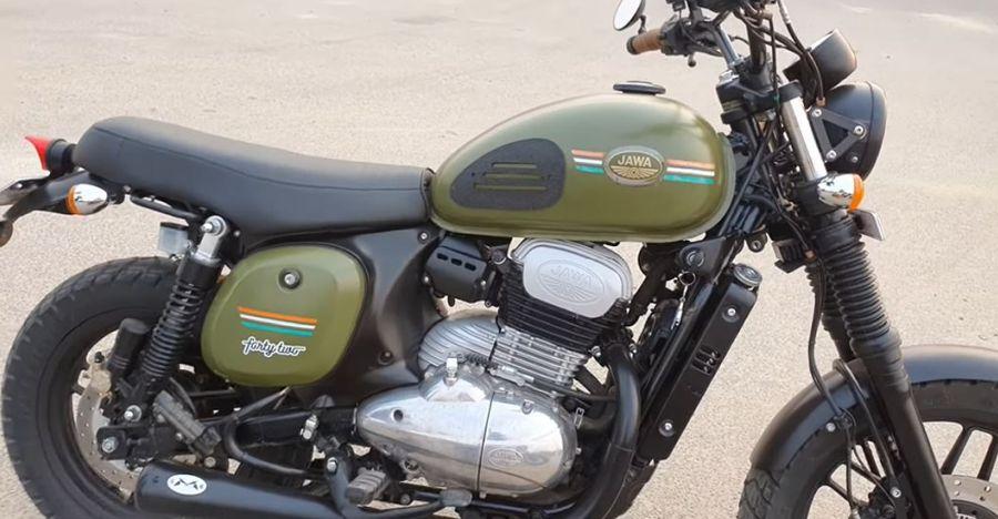 Jawa 42 converted into a tasteful Scrambler motorcycle