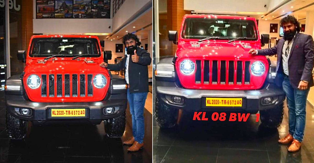 Kerala's first Jeep Wrangler Rubicon has a number plate worth Rs. 6.25 lakh [Video]