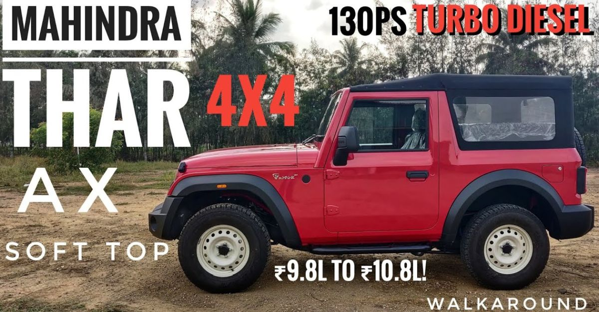 Mahindra Thar AX entry level diesel variant: Detailed on video