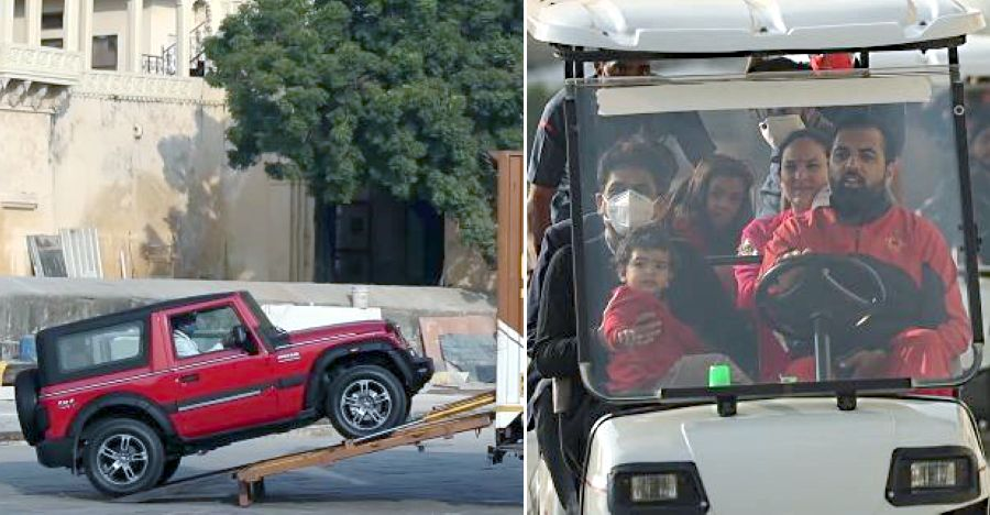 Fully accessorized all-new 2020 Mahindra Thar gets a traditional welcome at Prince of Udaipur's Palace