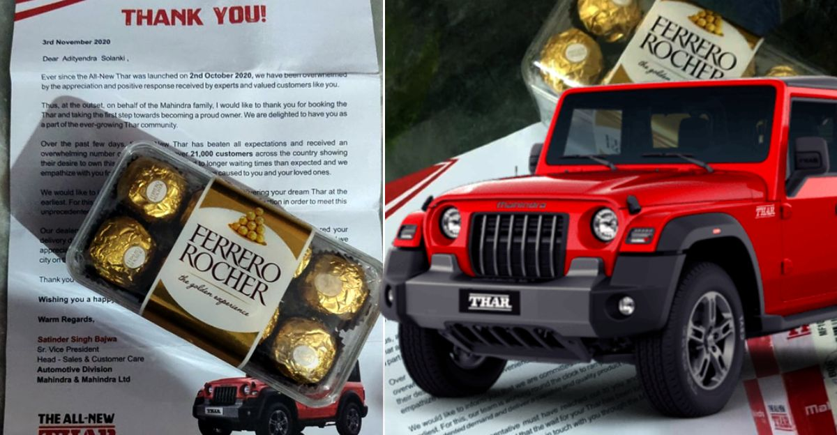 Mahindra Thar owners get Ferrero Rocher chocolate boxes as waiting period increases