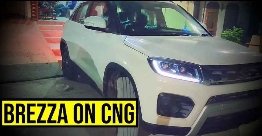 Maruti Brezza Petrol goes CNG: Check out how it's done [Video]