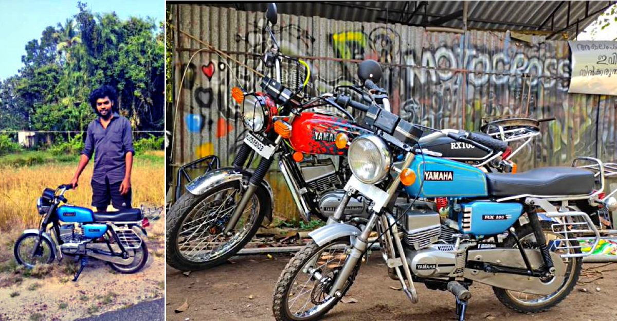 Kerala man builds a miniature Yamaha RX100 that uses a chainsaw engine [video]