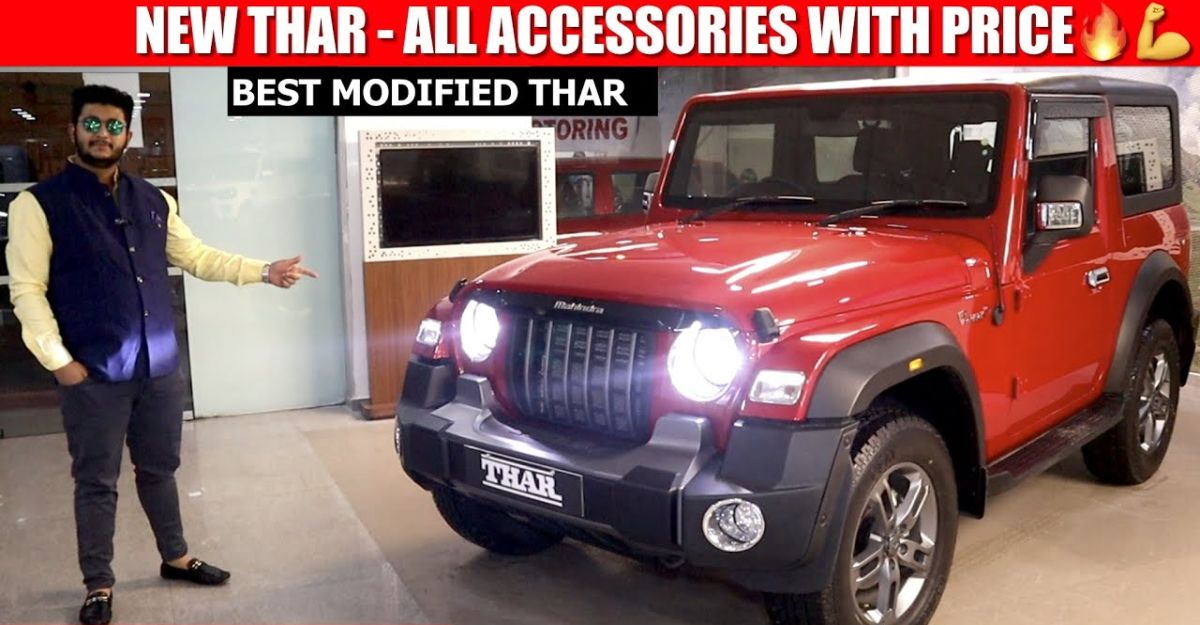 2020 Mahindra Thar fully modified with accessories [Video]