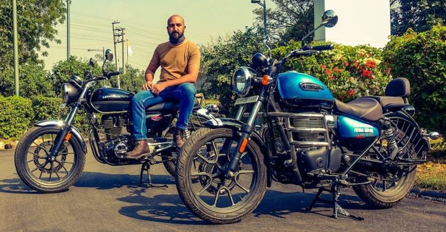 Royal Enfield Meteor compared with Honda CB350 H'ness at highway speeds