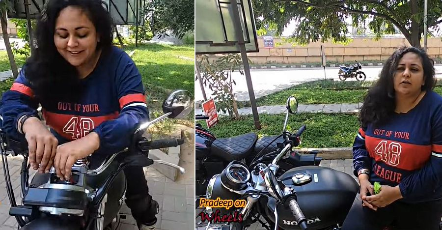 India's first woman rider to experience Honda CB350 H'Ness shares her impressions [Video]