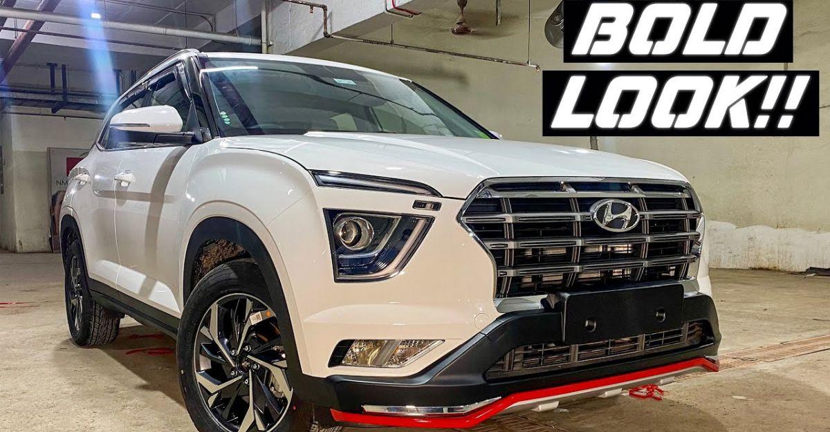 Hyundai Creta base E trim modified to look like top-end SX trim