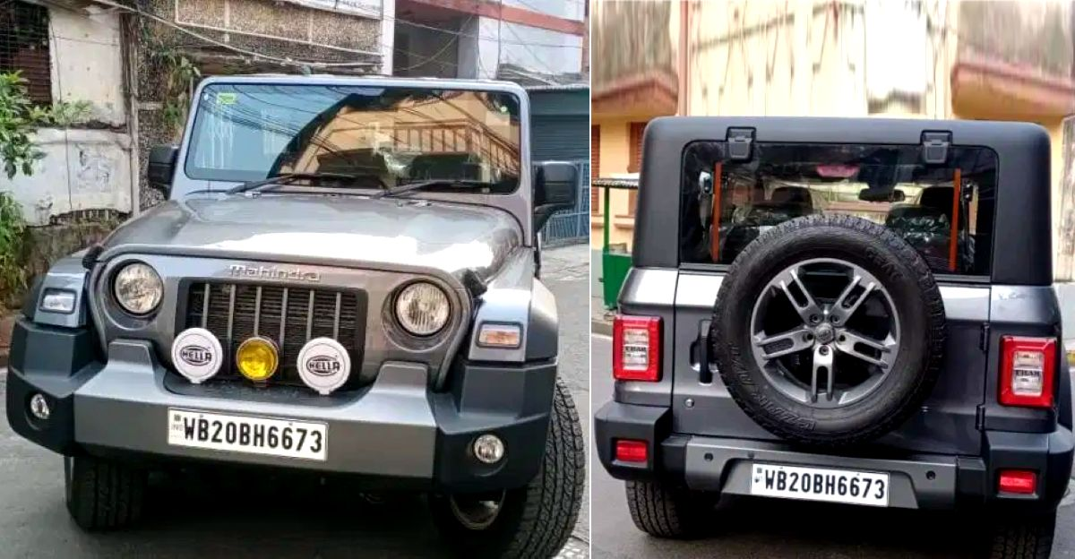 Almost-new 2020 Mahindra Thar 4X4 SUVs for sale in the used car market