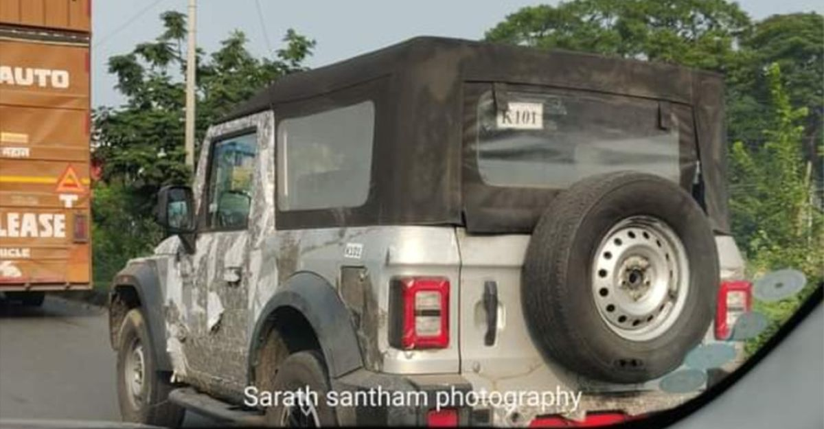 2020 Mahindra Thar spotted in new Silver colour