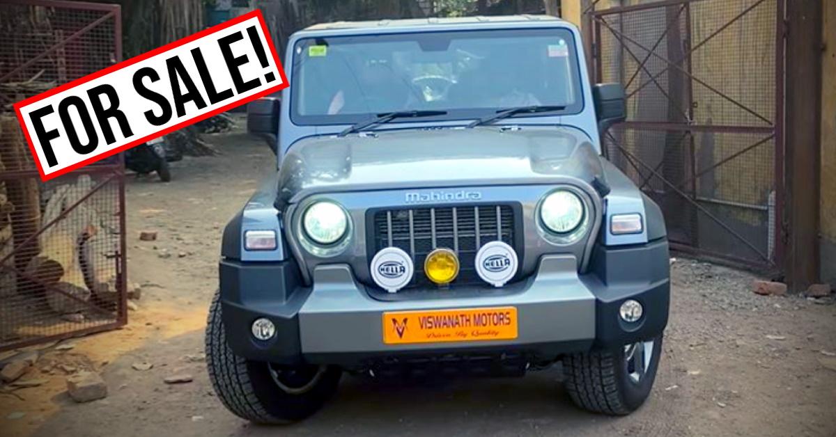 2020 Mahindra Thar hits the used car market in India
