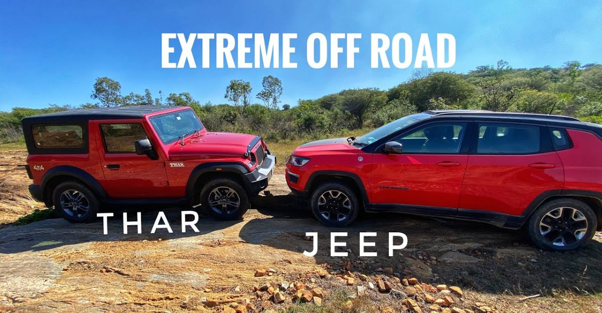 2020 Mahindra Thar takes on the Jeep Compass Trailhawk off the road