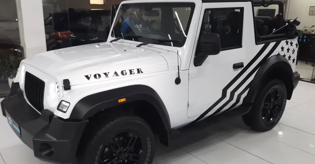 First all-new 2020 Mahindra Thar in white colour is an owner's mod job