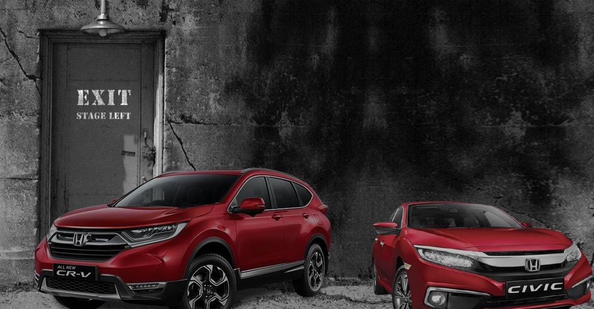 Honda discontinues Civic & CR-V in India to focus on car segments below City