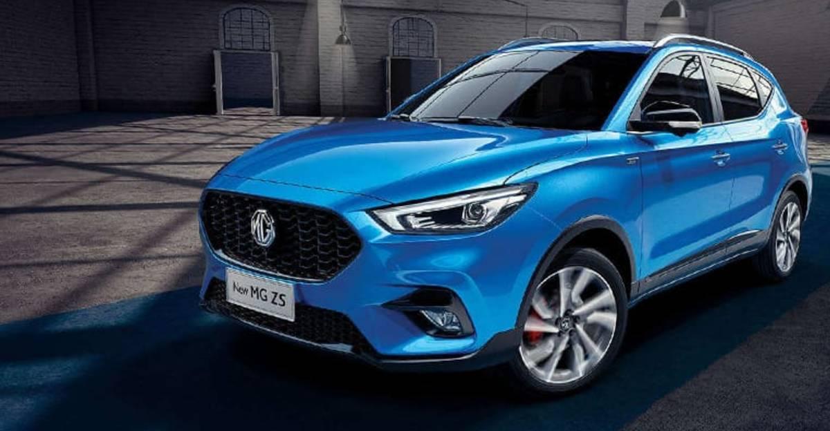 MG ZS petrol SUV spied testing
