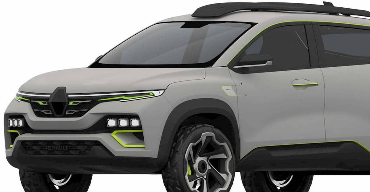 Renault Kiger compact SUV revealed through leaked patent pictures