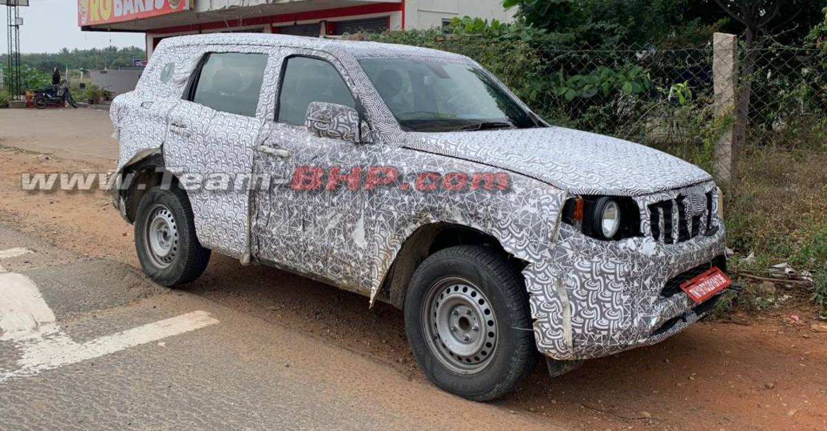 All-new Mahindra Scorpio entry-level base variant spied testing