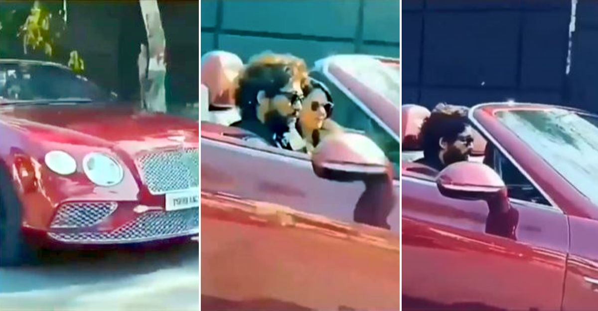 Movie star Allu Arjun & his family spotted taking a drive in the Bentley Continental GT V8