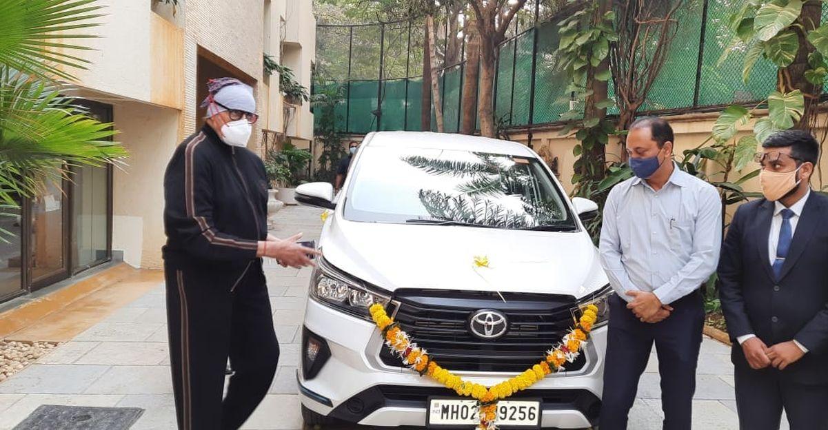 Amitabh Bachchan's latest ride is a facelifted Toyota Innova Crysta MPV