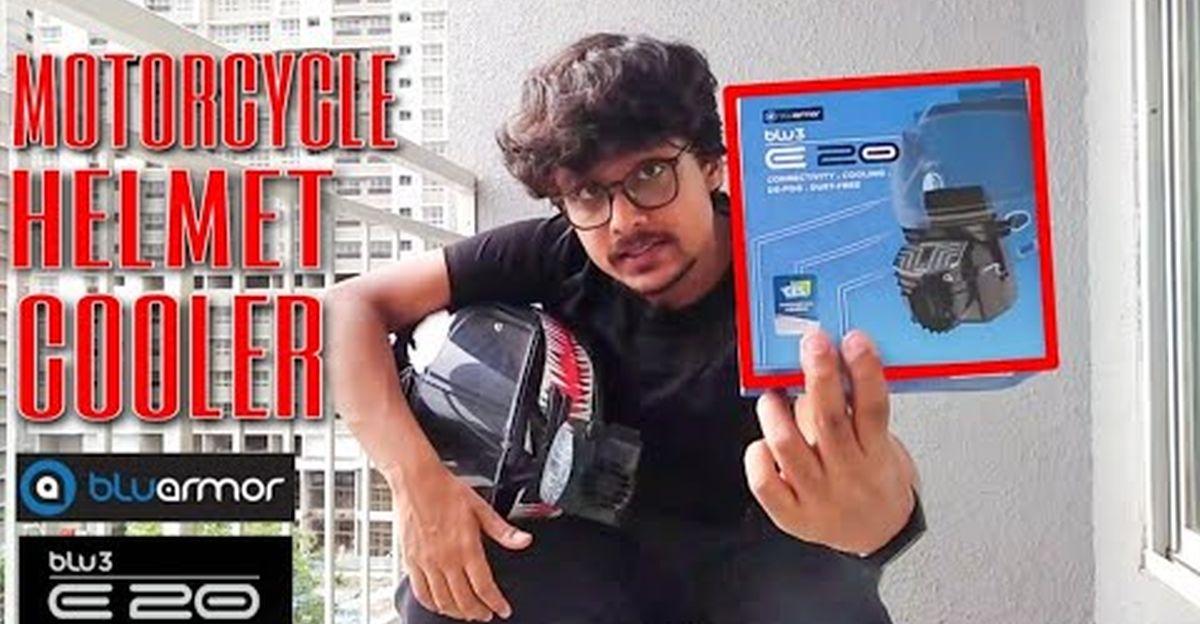 Vlogger reviews BluArmor BLU3 E20 helmet cooler